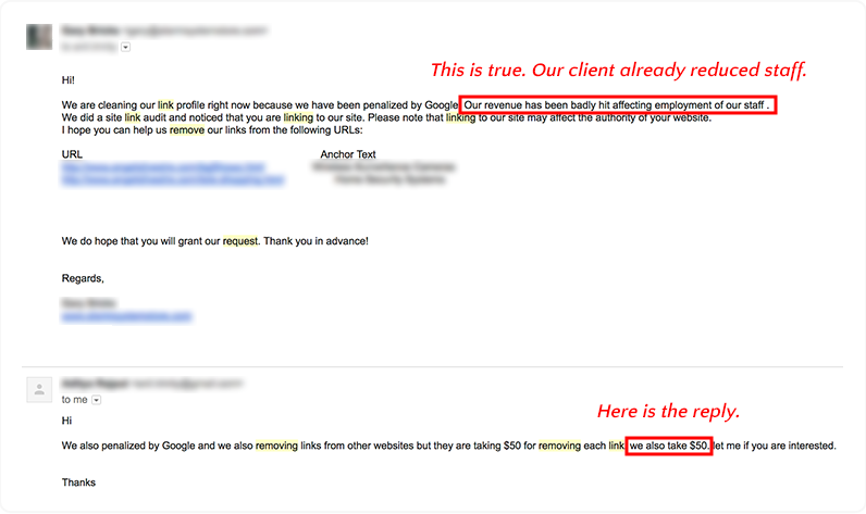 email reply link cleansing