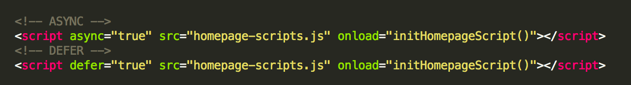 Optimize javascript and css delivery using async