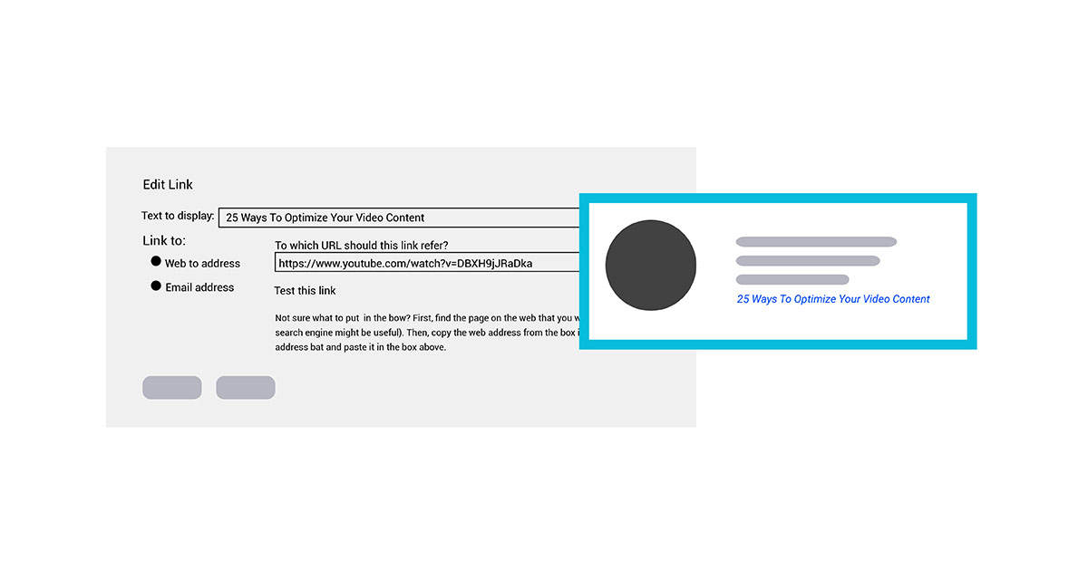 Link your video content in your email signature