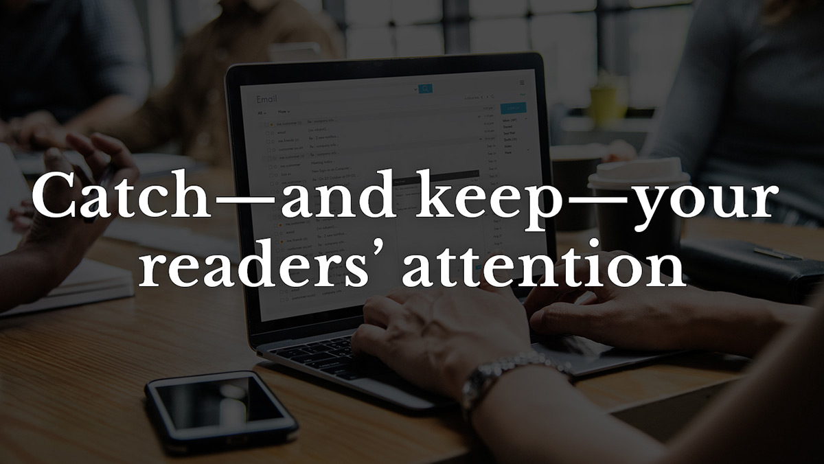 Catch attention email marketing