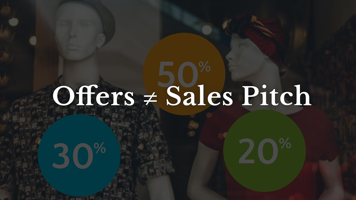 Offer not pitch email marketing