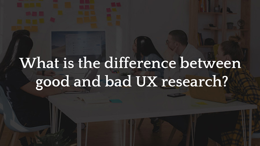 Difference between good and bad UX