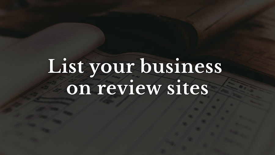 List your business on review sites