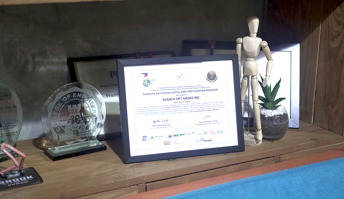 New certificate at home in Propelrr HQ