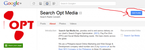 google+ edit button