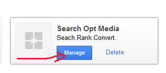 google+ manage button