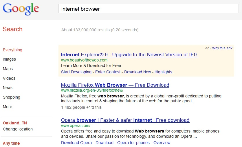 Google penalizes Chrome