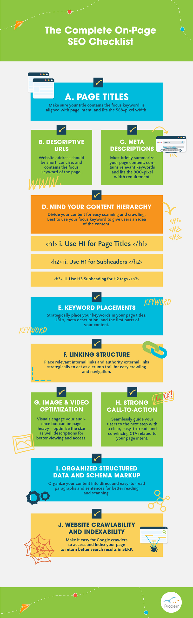 On-Page SEO Checklist - Infographic