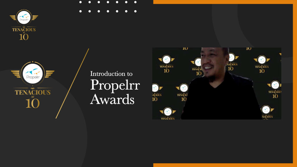Propelrr Awards Introduction by Michael Millanes