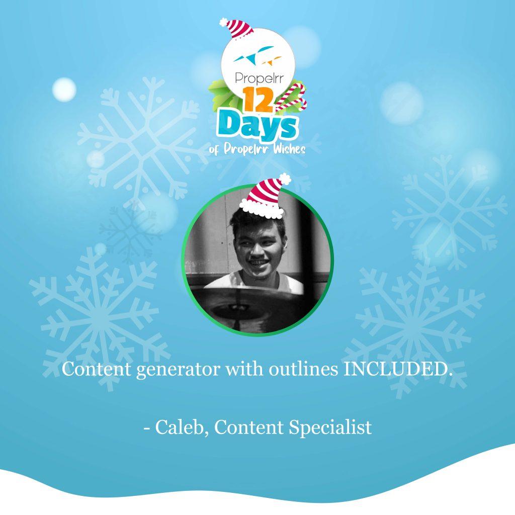 digital marketing wish - caleb
