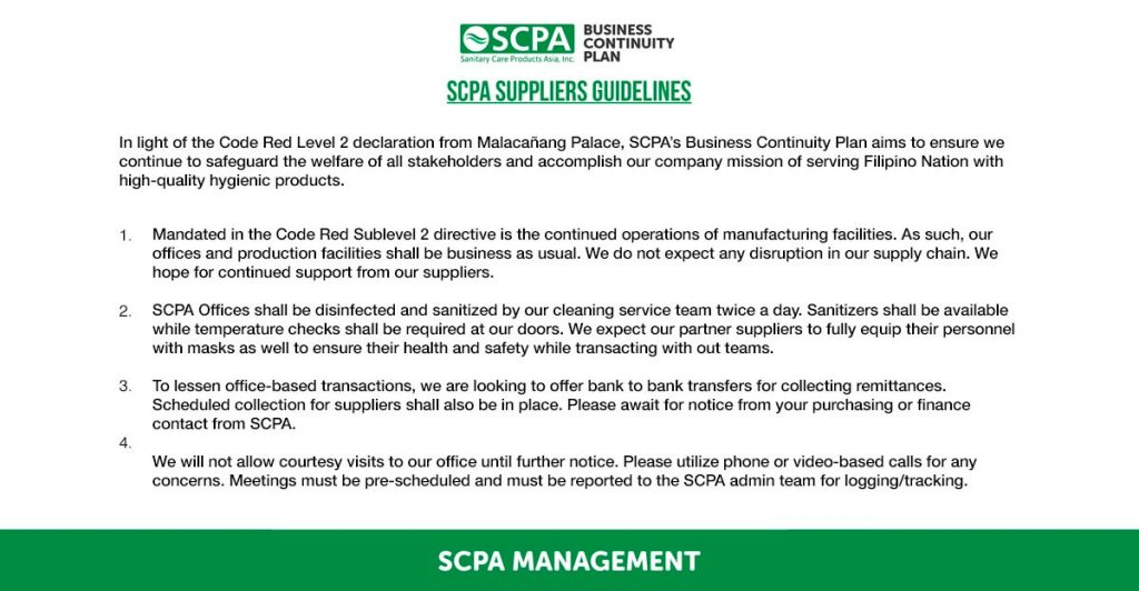 SCPA announcement