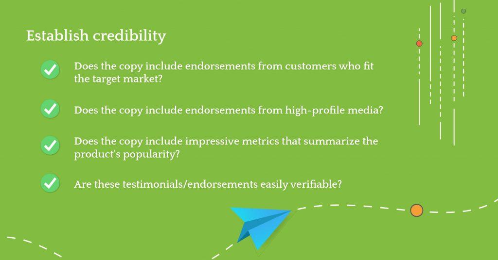 heuristic establish credibility
