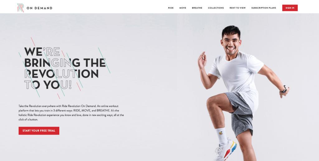 ride revolution homepage
