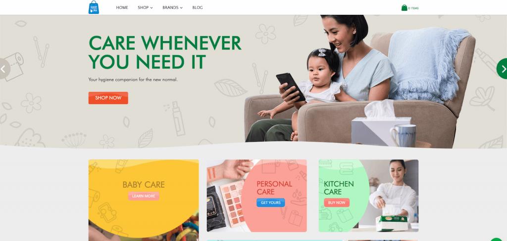 shophygiene ecommerce website