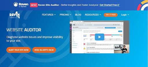 raven tools website auditor