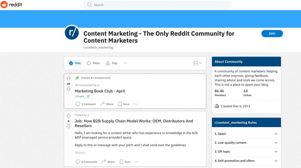 reddit groups