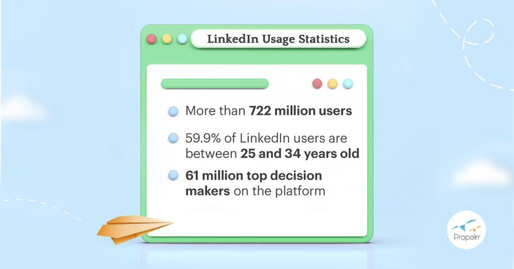 Recent LinkedIn usage statistics
