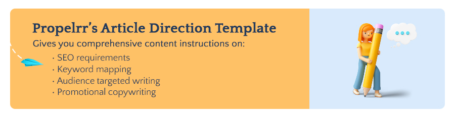 Propelrr's Article Direction Template