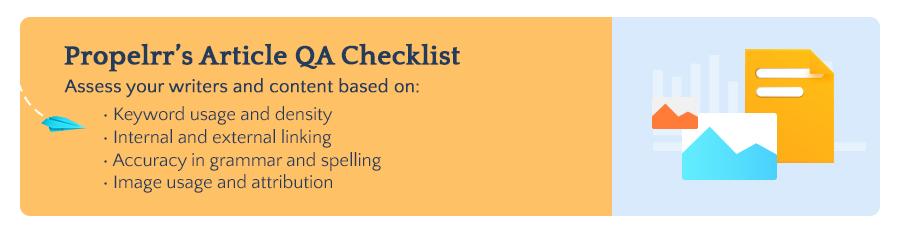 Propelrr's Article QA Checklist