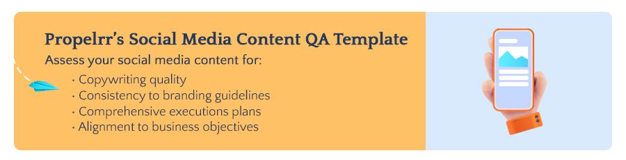 Propelrr's Social Media Content QA Checklist