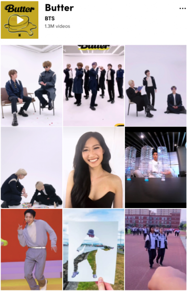 TikTok's sound feed for Butter by BTS