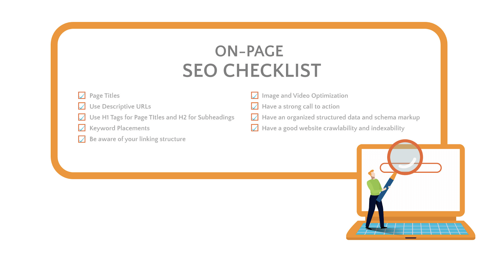 Complete on-page SEO checklist.