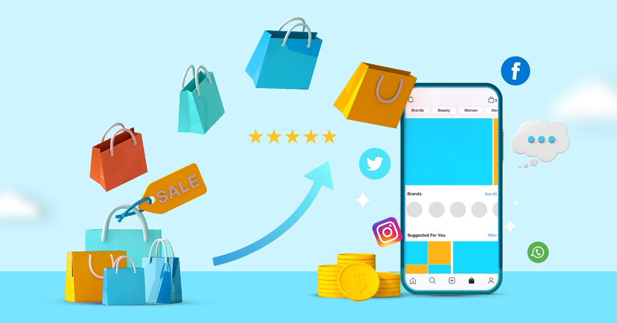 Illustration of successful conversion on social commerce