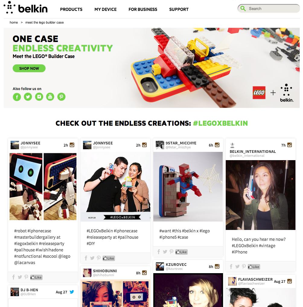 Belkin user generated content