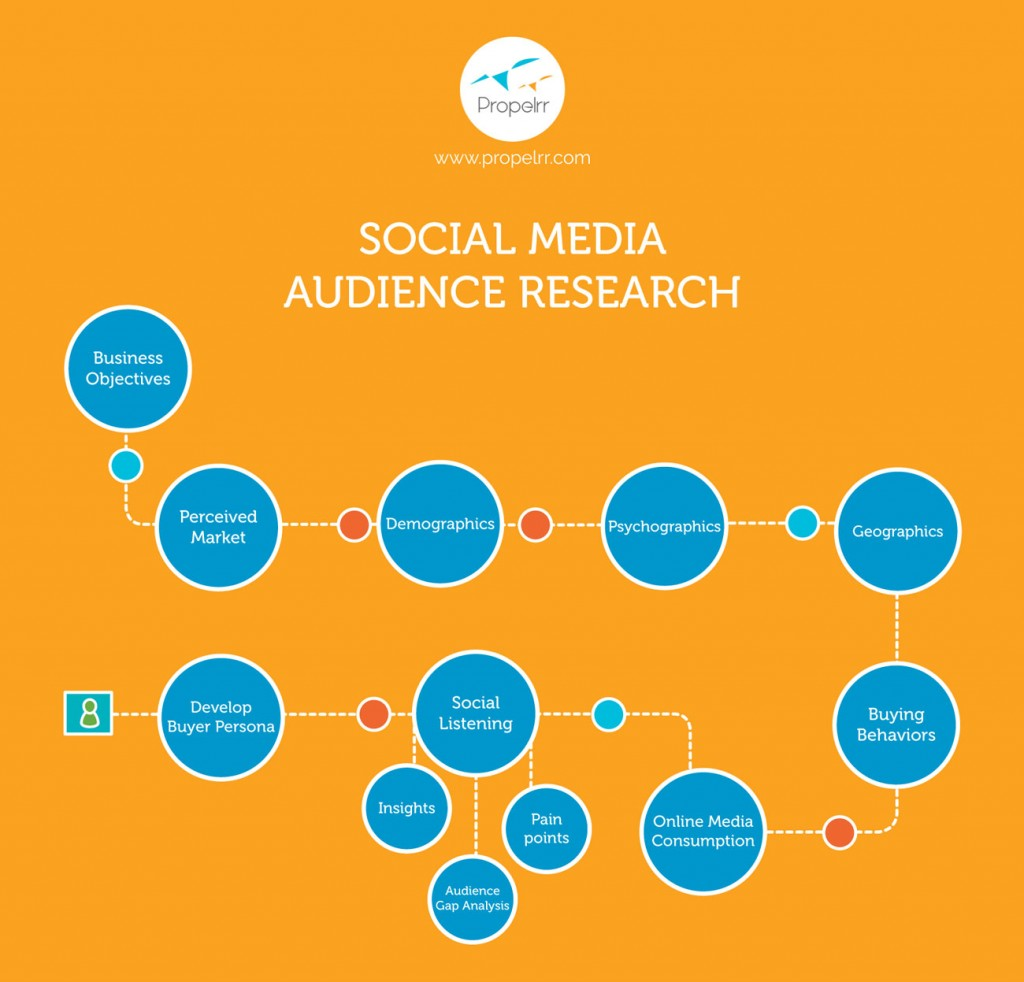 social media audience research process